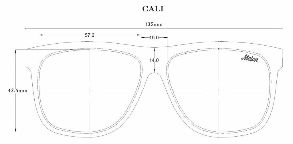 Melon Optics Cali Sunglasses Size Guide
