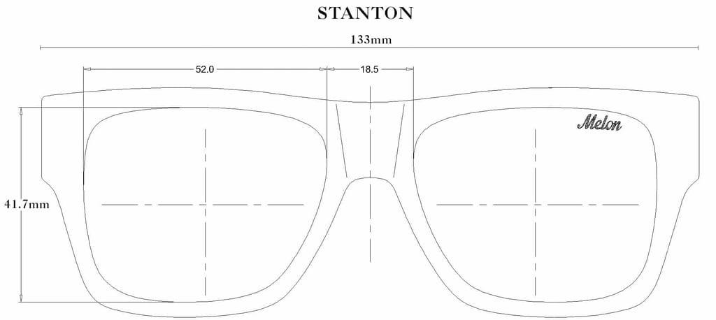 Stanton Sunglasses Size Guide