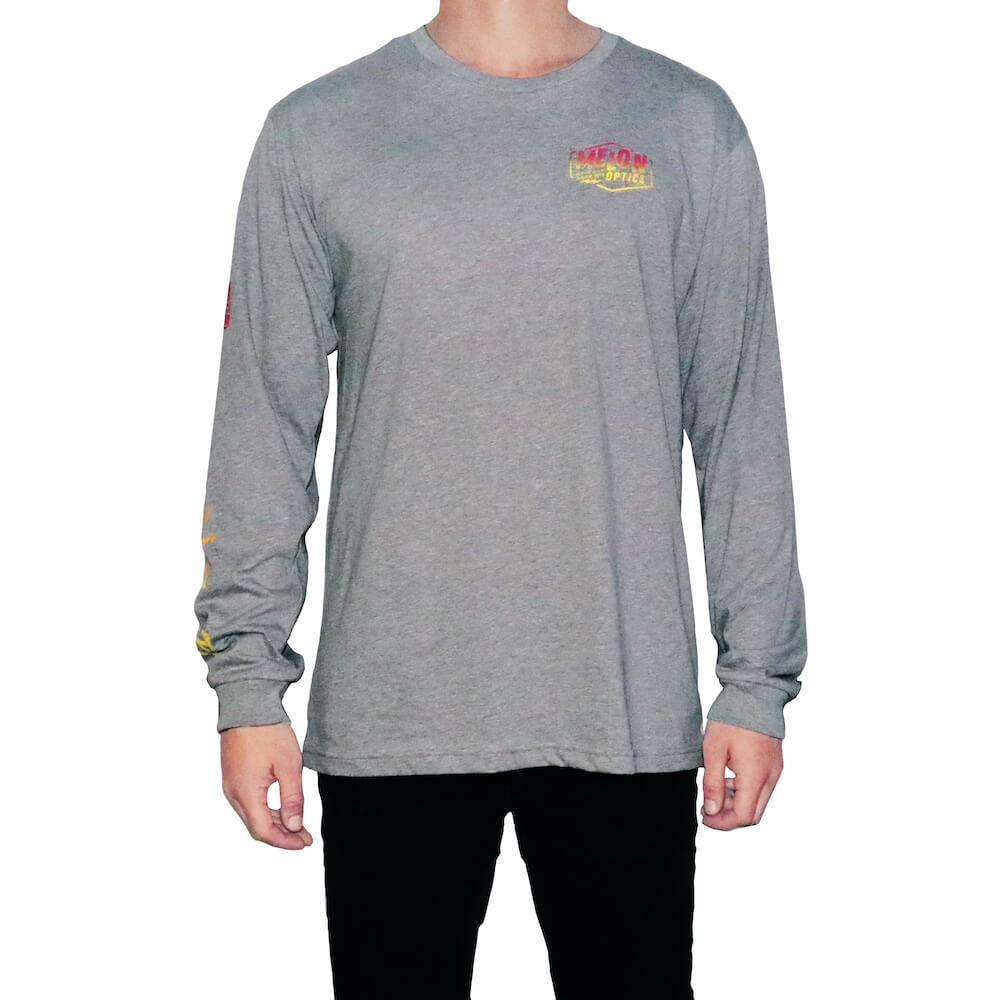 Downhill Til Death Longsleeve - Grey - Front 1