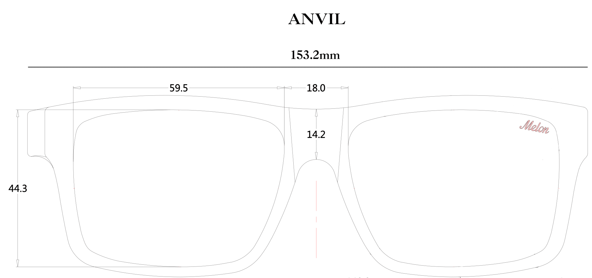 Melon Optics Anvil Sunglasses Size Guide